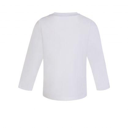 White Large Logo Baby T-Shirt