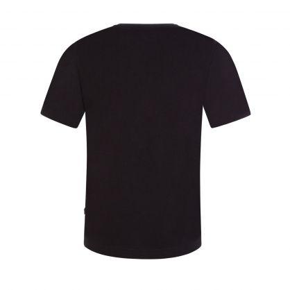 Black Short Sleeve Gold Capsule Logo T-Shirt