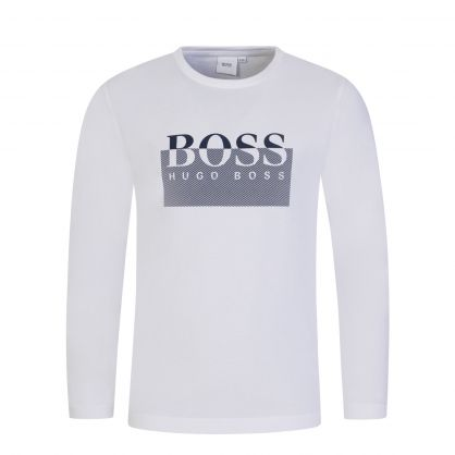 White Graphic Print Logo T-Shirt
