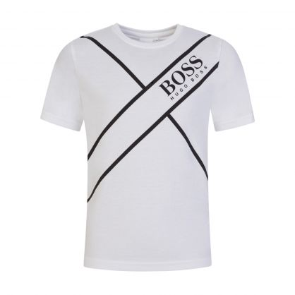 White Athleisure Logo T-Shirt