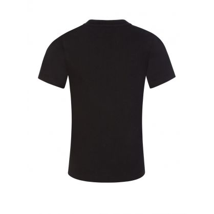 Jeans Kids Black Logo Tape Colourblock T-Shirt