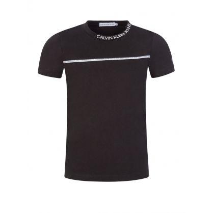 Jeans Kids Black Piped Logo T-Shirt