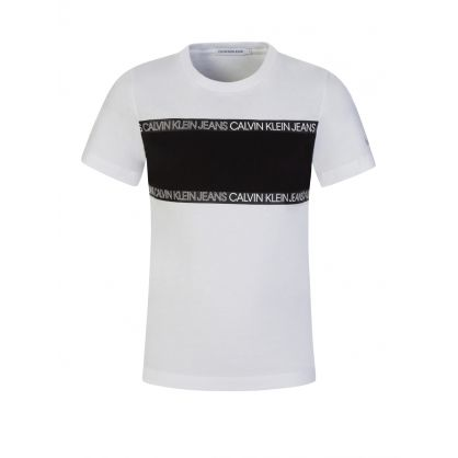 Jeans Kids White Logo Tape Colourblock T-Shirt