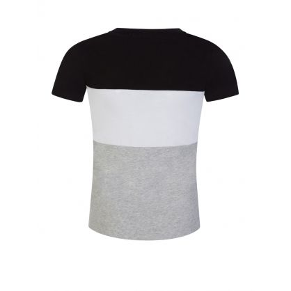 Jeans Kids Black Fitted Colour-Block T-Shirt