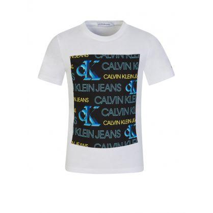 Jeans Kids White Organic Cotton Logo T-Shirt