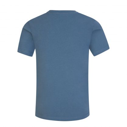 Kids Blue Eco Series Chest Monogram T-Shirt