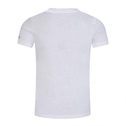 Jeans Kids White 3-D Effect Monogram Logo T-Shirt