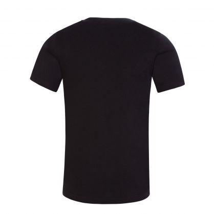 Kids Black Eco Series Chest Monogram T-Shirt