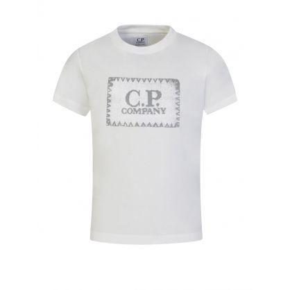 Cream Stamp Logo T-Shirt