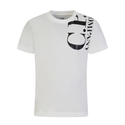 White Front & Back Logo T-Shirt