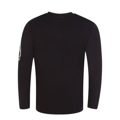 Black Long-Sleeve Logo T-Shirt