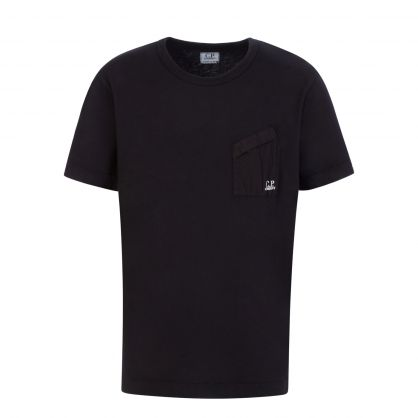 Black Slant Pocket Logo T-Shirt