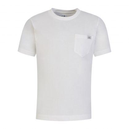 White Chest Pocket Shadow Logo T-Shirt