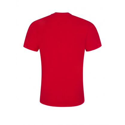 Kids Red Relaxed-Fit ICON Logo T-Shirt
