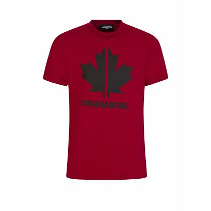 Kids Red Maple Leaf Logo T-Shirt
