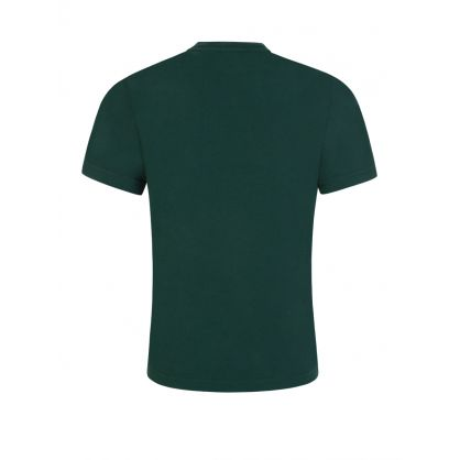 Kids Green Relaxed-Fit 'Fractured Logo' T-Shirt