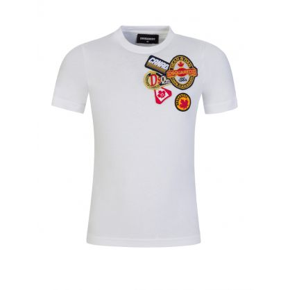 Kids White 'Family Business' Patch Logo T-Shirt