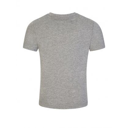 Kids Grey Dog Print T-Shirt