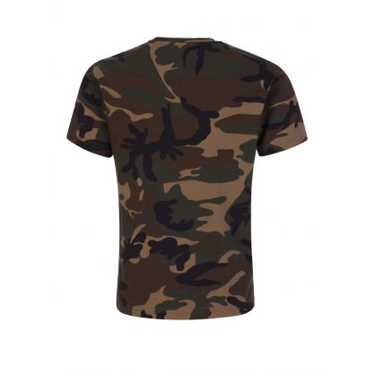 Kids Green Relaxed-Fit Camo-Print  ICON T-Shirt