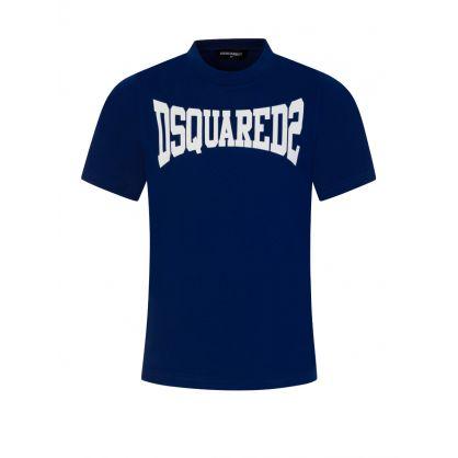 Kids Blue Classic Logo T-Shirt