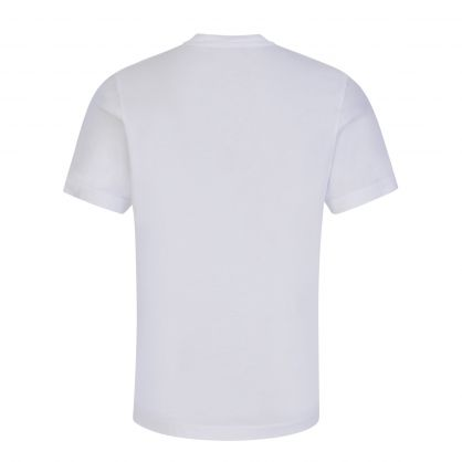 Kids Pure White Relaxed-Fit ICON T-Shirt