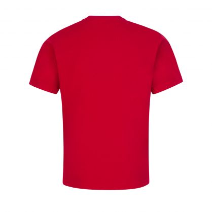 Kids Red Relaxed-Fit ICON T-Shirt