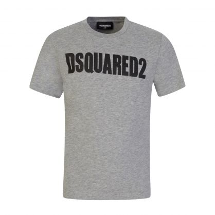 Kids Grey Relaxed-Fit Classic Logo T-Shirt