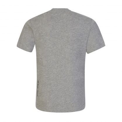 Kids Grey Relaxed-Fit Leaf Logo T-Shirt