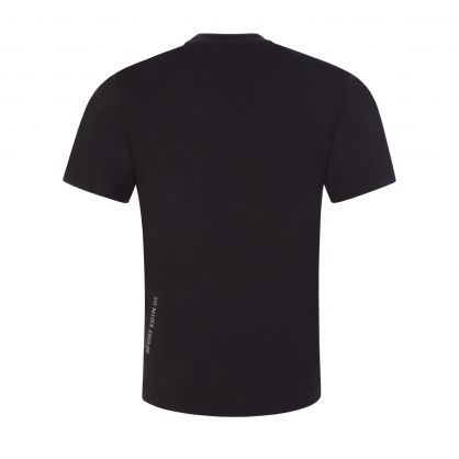 Kids Black Relaxed-Fit Leaf Logo T-Shirt