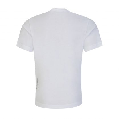 Kids White Relaxed-Fit Leaf Logo T-Shirt