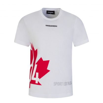 Kids White Relaxed-Fit Sport Edtn.04 T-Shirt