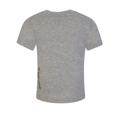 Kids Grey Toddler Leaf Logo T-Shirt