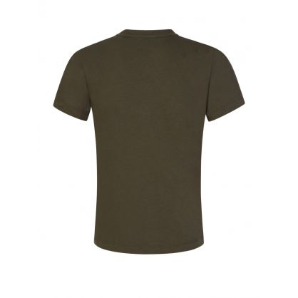 Junior Green Shoulder Logo T-Shirt