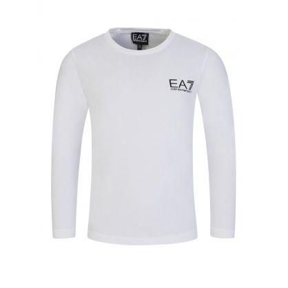 Junior White Rubberised Logo T-Shirt