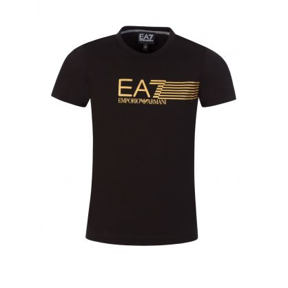 Junior Black Logo Graphic T-Shirt