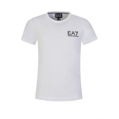 Junior White High Shine Logo T-Shirt
