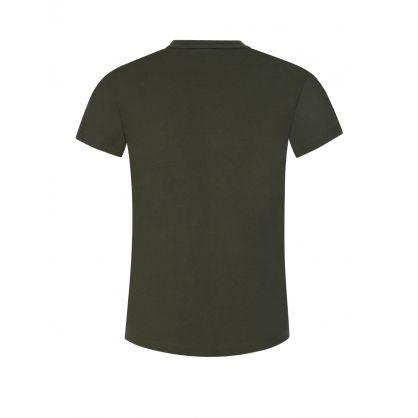 Junior Green Rubberised Logo T-Shirt