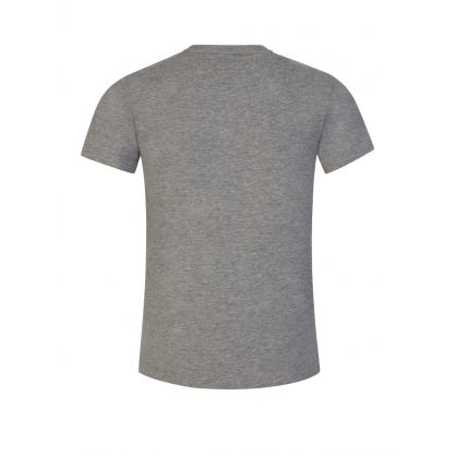 Junior Grey Black Logo T-Shirt