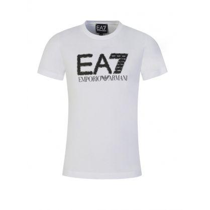 Junior White Camo Logo T-Shirt
