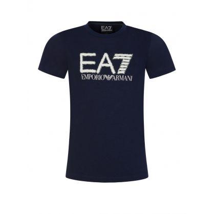 Junior Navy Camo  Logo T-Shirt