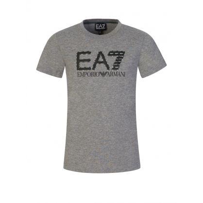 Junior Grey Camo Logo T-Shirt