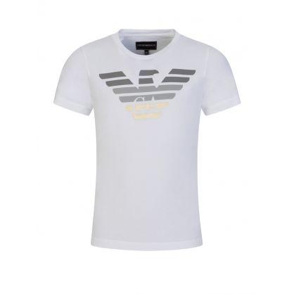 Junior White Gradient Eagle T-Shirt