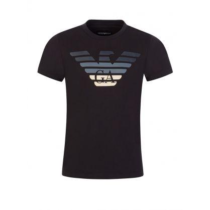 Junior Black Gradient Eagle T-Shirt
