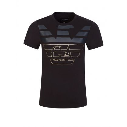 Junior Black/Green T-Shirt Set
