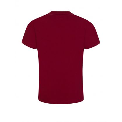 Junior Red Rubberised Logo T-Shirt