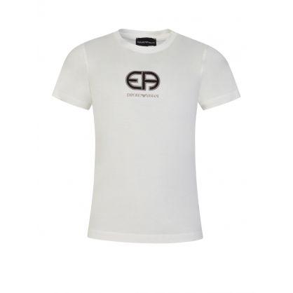 Junior White R-EAcreate Logo T-Shirt