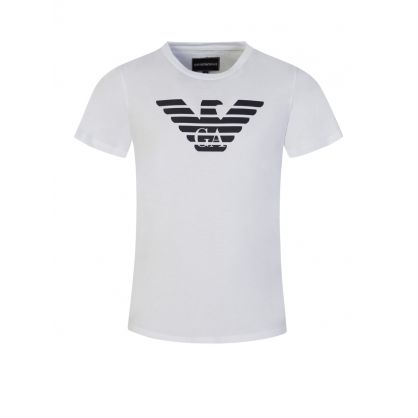 Junior White Classic Eagle Logo T-Shirt