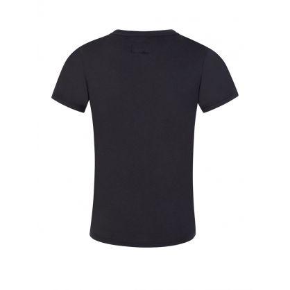 Junior Navy Blue Classic Eagle Logo T-Shirt