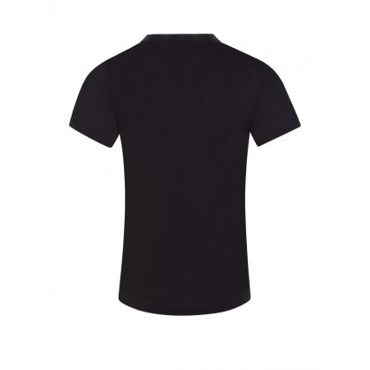 Junior Black Logo Stripe T-Shirt