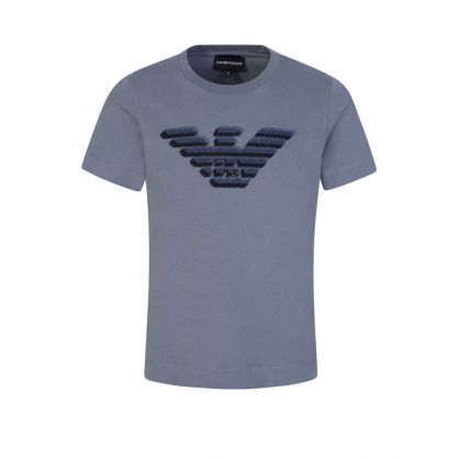 Junior Grey Embroidered Eagle T-Shirt